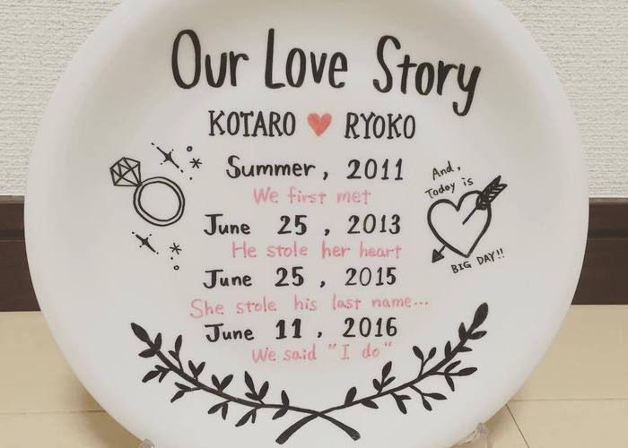 200円で格安DIYできる♡お皿にふたりの歴史を刻む〔ラブストーリーディッシュ〕って知ってる?*