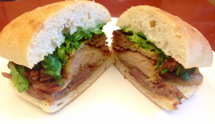 Pork Confit Sandwich from Melvin's Deli