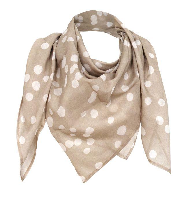 """Silk-Cotton Scarve in 100x100 cm """"bambi beige"""" by studio nono http://studio-nono.net"""