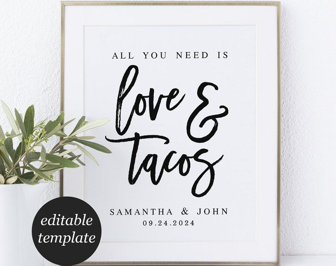 All You Need Is Love And Tacos Rehearsal Dinner Invitation Etsy Pizza Wedding Rehearsal Dinner Themes Rehearsal Dinner Invitation Template
