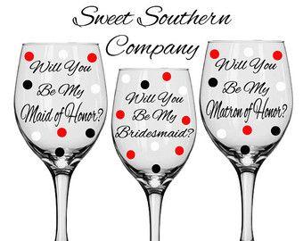 14 Sposa personalizzati e damigelle Polka di SweetSouthernCompany