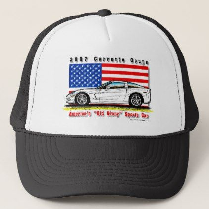 2007 Corvette Coupe Baseball / Trucker Cap - accessories accessory gift idea stylish unique custom