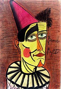 The Clown - Pastel Drawing - Bernard Buffet (1971)