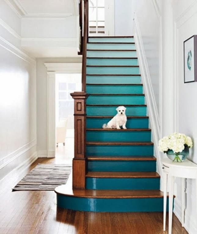Decorate stairs | Ombre Stairs: Following the ombre trend why not give your staircase ...
