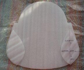 Шаблон для объёма валяной сумки