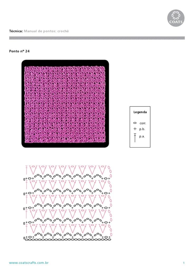 PONTOS DE CROCHÊ: Point, St. Ptterns, Pontos De, Crochet Motifs