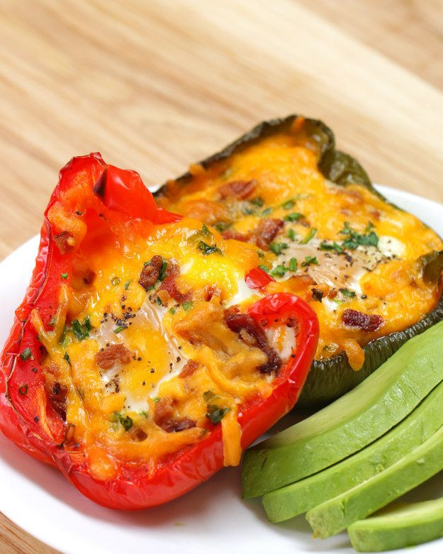Make eggs in edible pepper bowls. | 25 Ways To Trick Yourself Into Eating More Vegetables