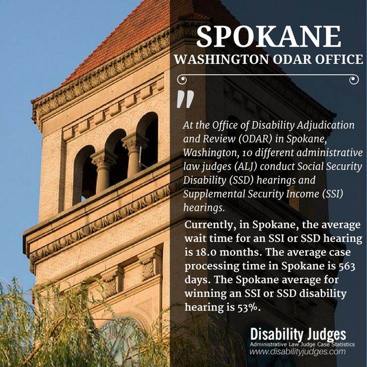 Know the detailed information about the hearing offices and the administrative law judges (ALJ) that work in SPOKANE, WASHINGTON Visit: https://www.disabilityjudges.com/state/washington/spokane #SPOKANEWASHINGTONODAROffices #AdministrativeLawJudgesSPOKANEWASHINGTON #SPOKANEWASHINGTONDisability #ODAR