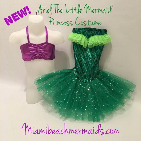Ariel la pequeña sirena princesa traje para vestir y retratos
