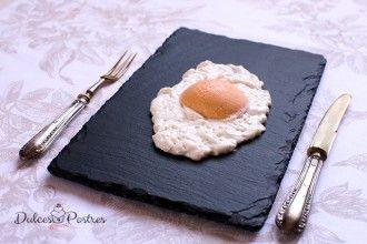 Espuma de coco con sorbete de yema de huevo | Jordi Roca #recetaJordiRoca #espumadecococonyemadehuevo