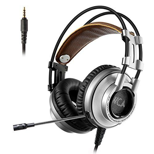 XIBERIA PS4 Headset PC Gaming Headphones Over-ear Bass Xbox One Headset with Microphone for PS4 PlayStation 4 PC Computer Phone  ✔ Universal Compatibility: Works great with PS4 / Xbox One / Mac / Tablet / Desktop / Laptop. If you have the older Xbox One controller, you will need the adapter to use the headset. 18-month warranty  ✔ Accurate Sound Pickup: Capture the sound of flying bullets, footsteps and all special sound effects throughout the game and deliver a clear, crisp and rich s...