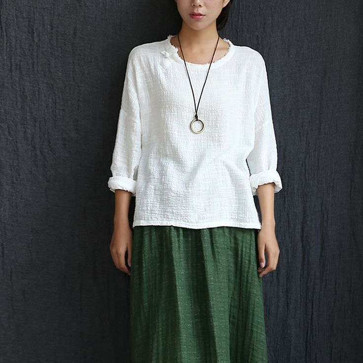 Long sleeve O-neck Linen Blouses Women Chinese style Loose Casual Shirt Summer Solid Yellow White Blouses Linen Cute Tops 5010   Tag a friend who would love this!   FREE Shipping Worldwide   Buy one here---> https://dailysale.store/long-sleeve-o-neck-linen-blouses-women-chinese-style-loose-casual-shirt-summer-solid-yellow-white-blouses-linen-cute-tops-5010/