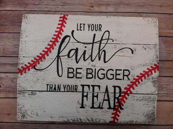 Baseball Pallet Sign Let your Faith Be by DixieNativeDesigns