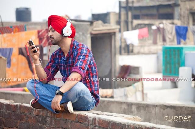Diljit Dosanjh at Delhi during shooting of Kharku song.Diljit Dosanjh New Wallpaper - Back To Basics 2012.