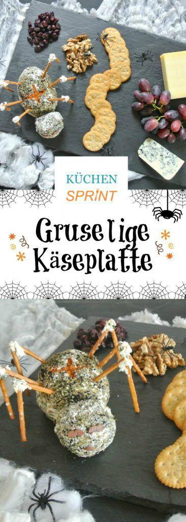 Gruselige Käseplatte - der ideale Snack für Halloween