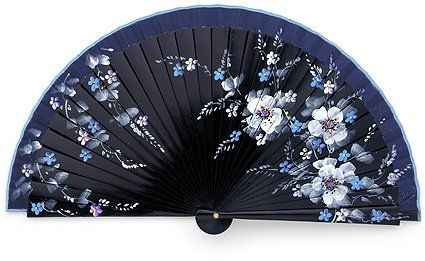 Japanese silk hand fan