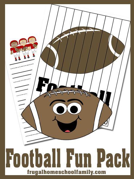 Frugal Homeschool Family Exclusive: Printable Football Pack - Frugal Homeschool Family