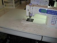 Clever and economical DIY extender for sewing machine-a nice slippery prefinished surface would be nice too.... TRY VINYL ... WORKS