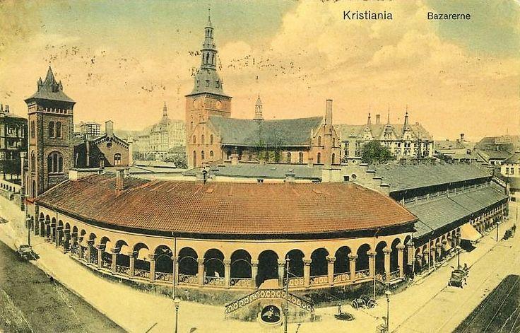 Kristiania Christiania Bazarene Kirkeristen Carl Johans gt. tidlig 1900-tallet