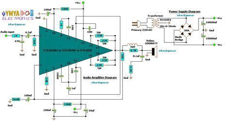 200W power amplifier complete power supply - Amp Circuit Diagram
