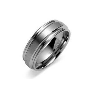 Men's Tungsten Carbide Ring 8mm Beautifully Crafted Brushed Metal Design with High Polished Grooved Edges Wedding Band, Size 10 (More Size Available) (Jewelry)  http://balanceddiet.me.uk/lushstuff.php?p=B006QV6RFE  B006QV6RFE