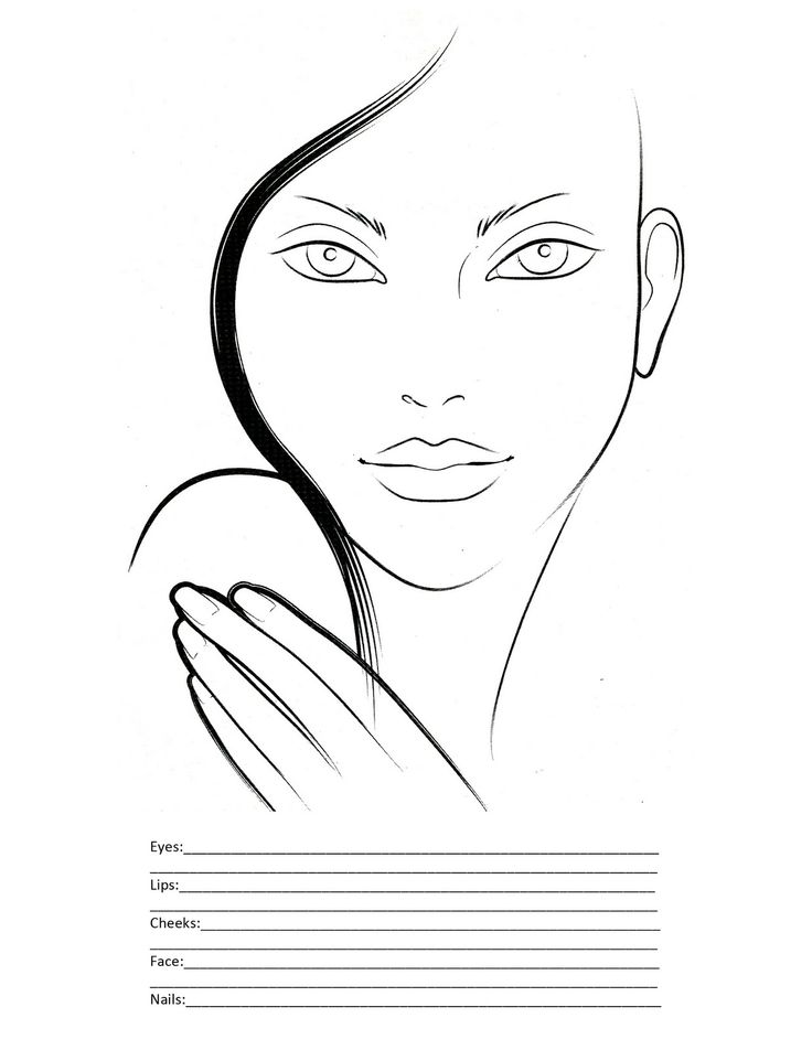 Makeup by Angel: Blank Face Charts