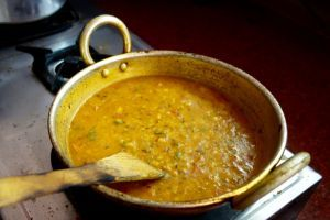 Dhal fry - Red lentils Northern India style - authentic Indian vegan recipe from India (source: my personnal food and travel blog / vlog with recipes, authentic video recipes, street food, food and travel documentary, travel info and more. Welcome! :) )