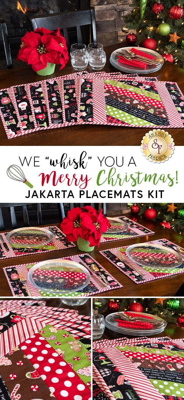 Quilt As You Go Jakarta Placemats We Whisk You A Merry Christmas In 2020 Christmas Placemats Placemats Christmas Projects