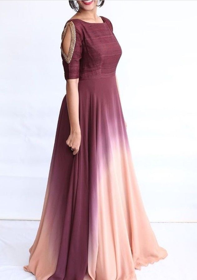 indian simple long gown