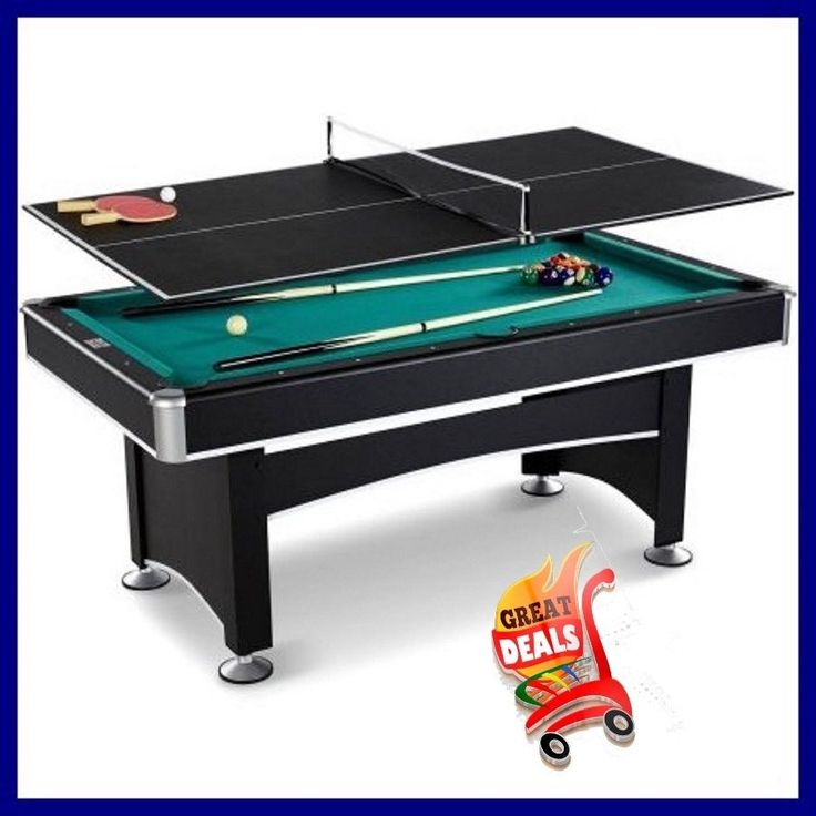 Pool Table Arcade Billiard With Table Tennis Top Accessory Kit Barrington 6 Ft #Barrington
