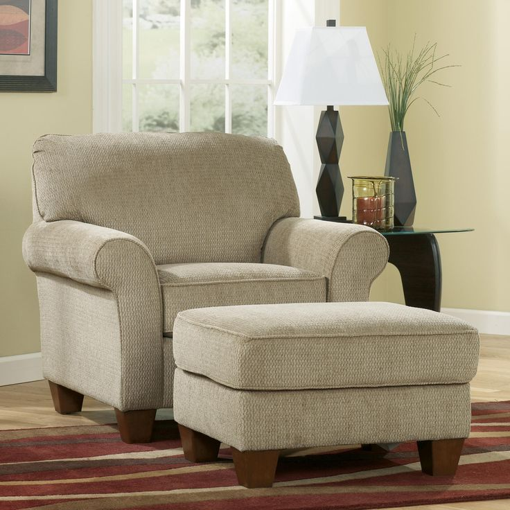 Slipcovers Ashley Furniture: Pebble Chair And Ottoman Combination By Ashley