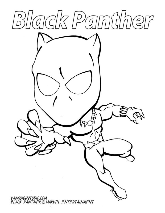 Printable coloring pages of superheroes in chibi style