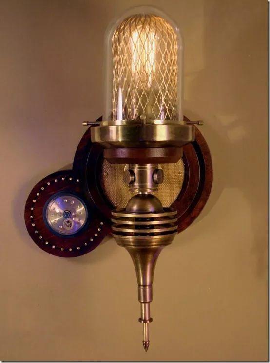 Стимпанк светильник, лампа