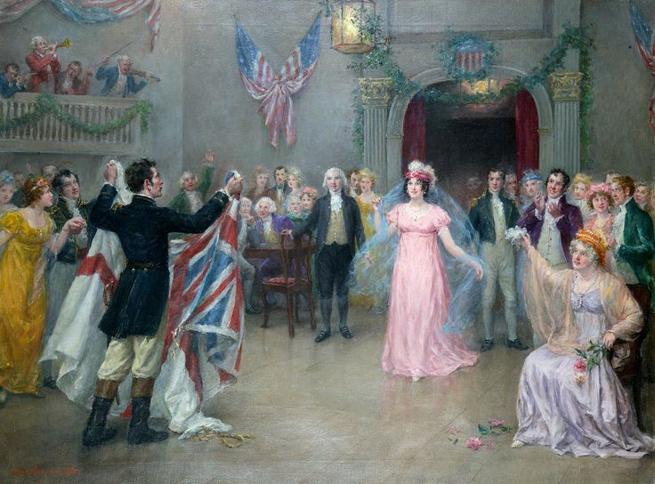 Sellars Collection - Dolly Madison's Ball by Jennie Brownscombe