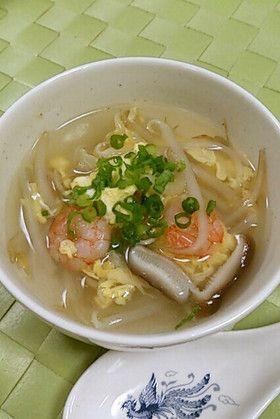 海老ともやしの卵スープ #Japanesefood #日本料理