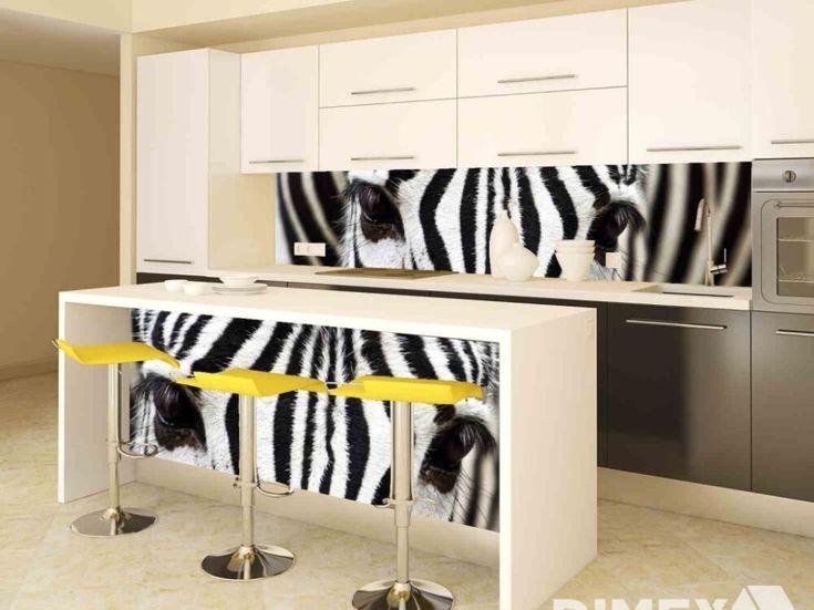 Zebra ako hlavný motív v kuchyni