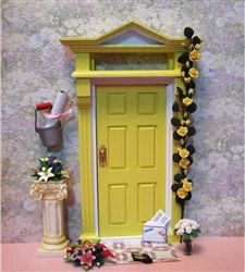Fairy Door Ideas large opening christmas elf fairy door free standing Yellow Fairy Door