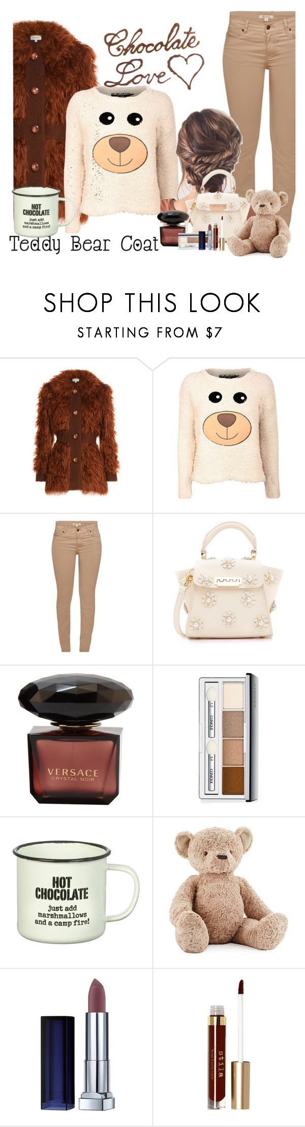 """""""Curled up"""" by stephaniefb ❤ liked on Polyvore featuring Isa Arfen, Pilot, Barbour, ZAC Zac Posen, Clinique, Parlane, Jellycat, Maybelline and Stila"""
