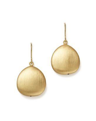 16127e8a6 Bloomingdale's 14K Yellow Gold Satin Finish Drop Earrings - 100% Exclusive  in 2019   Earrings   Earrings, Jewelry, Drop earrings