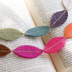 This is supposed to be a necklace, but I think it would be really cute as fall garland or maybe even for a really colorful Christmas tree :) Easy, too.