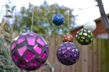 MOSAIC BOUBLE ORNAMENT with a secret message inside...would be cute for kids to make and write notes to family or to themselves to open when they are adults...
