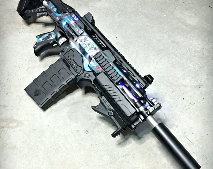 Nerf Rapidstrike Black x Gold Protype by JLCustomsCreations