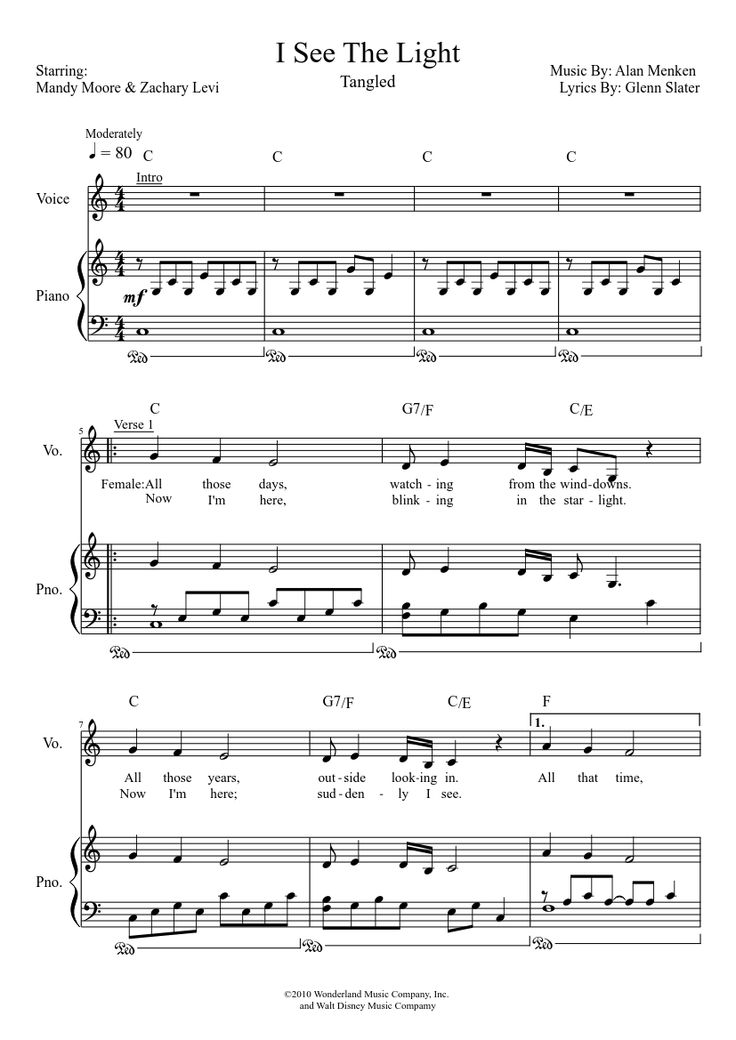 Piano i see the light piano sheet music : 30 best Music images on Pinterest | Sheet music, Cello and Free ...
