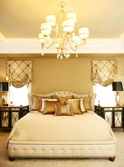 bedroom in cream & gold | master bedroom | Pinterest