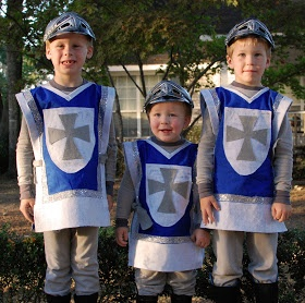 No sew knight costumes- Auden wants to be a knight this year