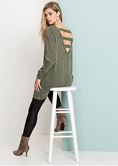 3269754e2 Discover Cozy Sweatshirt Dress in Olive online at Venus at an ...