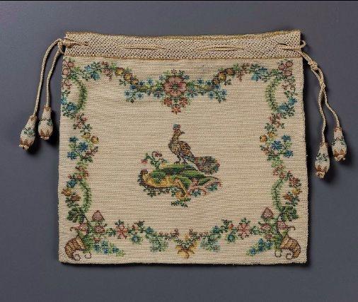 Drawstring bag French ca. 1750-1775