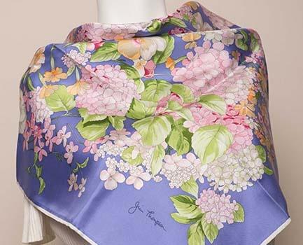 Purple jim thompson thai silk scarf zengerine picks for Thai silk jim thompson