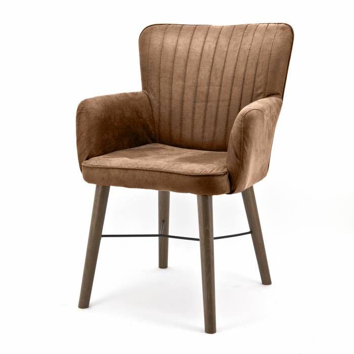 Stoel Chiba met armleuning cognac  Description: De Eleonora Stoel Chiba Jackson heeft comfortabele armleuningen. Deze stoel is gestoffeerd met een Jackson stoffering en heeft daardoor een comfortabele zitting en rugleuning. Deze chique stoel kun je gebruiken als eetkamerstoel maar staat ook leuk in de woonkamer of op kantoor. De stoel heeft een fraaie eikenhouten frame dat het geheel mooi afmaakt. Je kunt de Stoel Chiba Jackson makkelijk combineren met andere meubels en woonaccessoires. De…