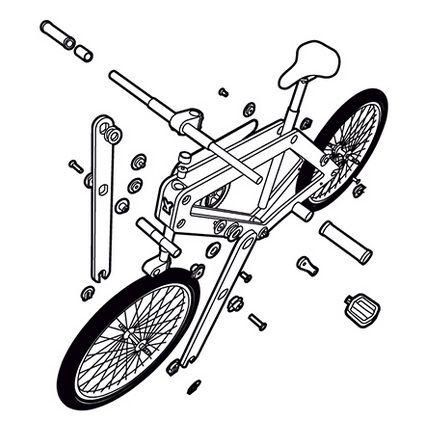 Sandwich Bike Bicicleta Desmontada